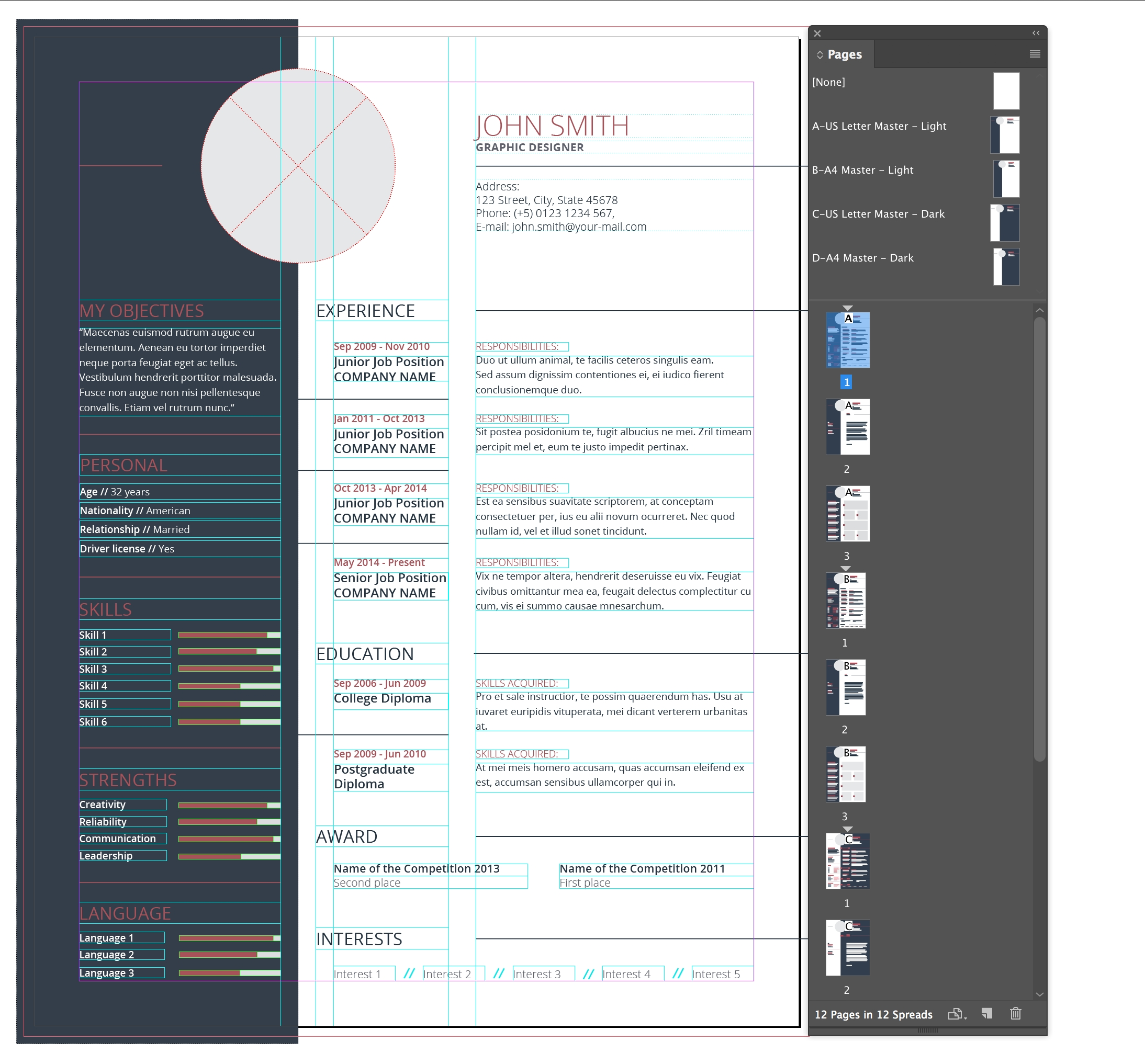 Adobe Indesign: I Can't Edit An Adobe Stock Cv Template