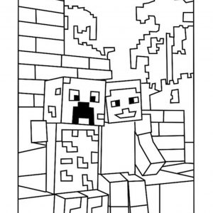 Best Minecraft Creeper Coloring Pages - Free, Printable