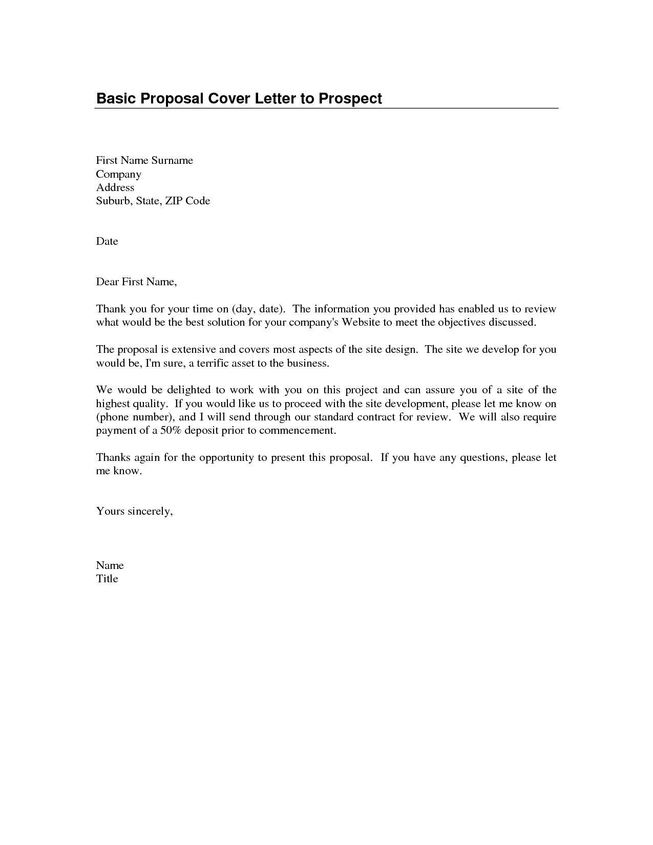 Quick Cover Letter Template | Cover Letter For Resume