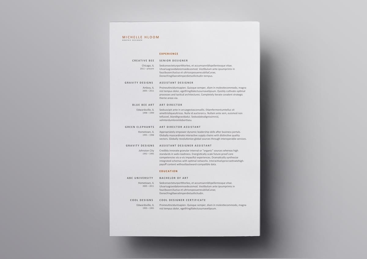 10+ Free Open Office & Libre Office Resume Templates