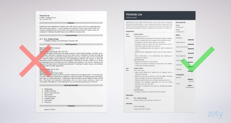 Fashion Stylist Resume: Examples & Writing Guide [20+ Tips]