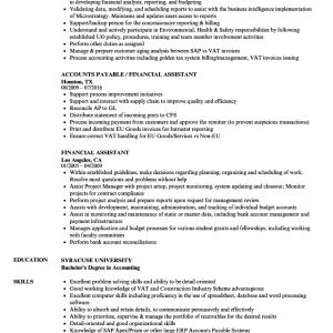 Financial Assistant Resume Samples | Velvet Jobs