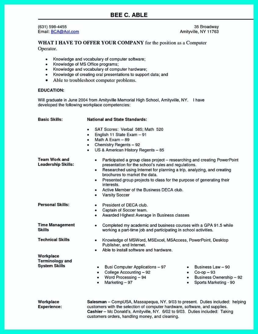 Resume Sample: The Best Computer Science Resume Sample