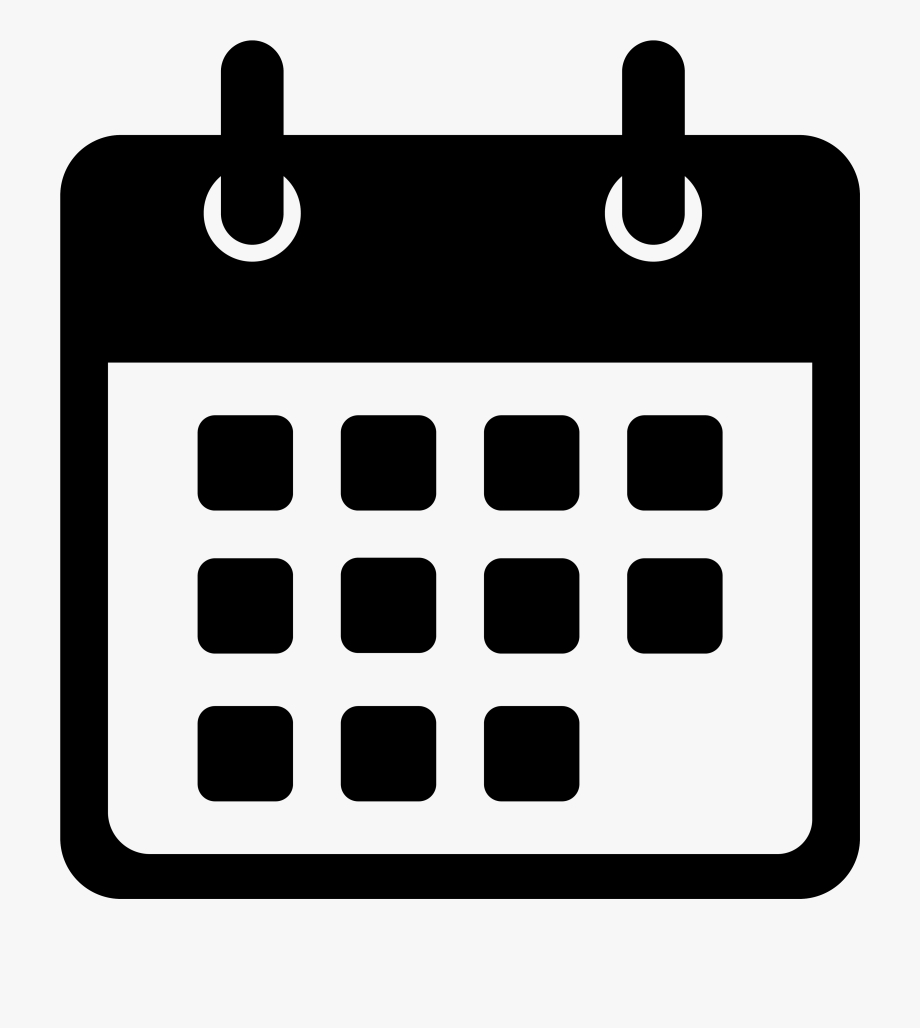 Calendar Icon Png Date - Events Icon White Png , Transparent
