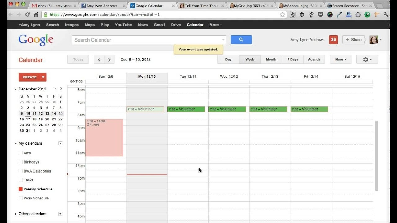 How To Create A Weekly Schedule In Google Calendar (From Tell Your Time)