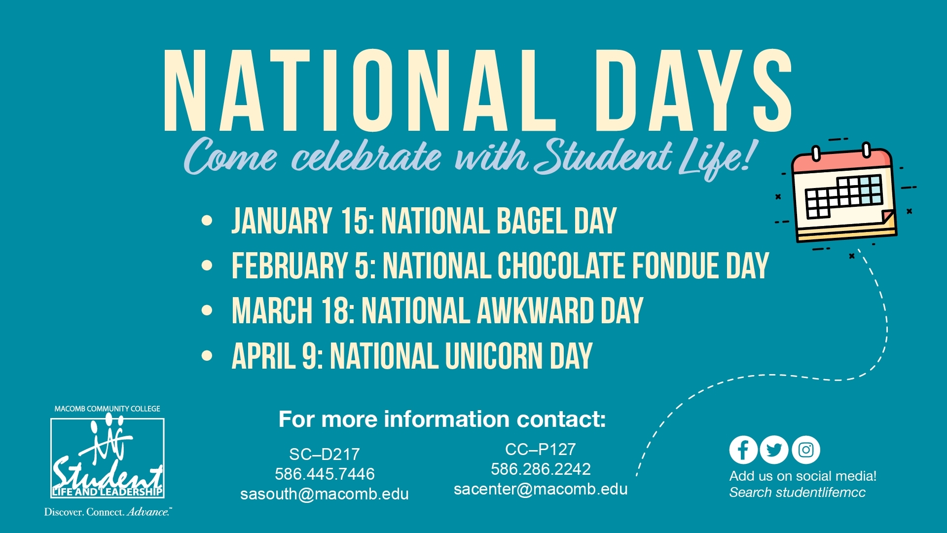 Macomb Community College - Cancelled - National Days