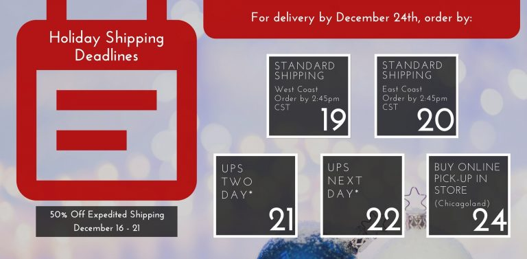 2016 Holiday Shipping Deadlines | The Bolt