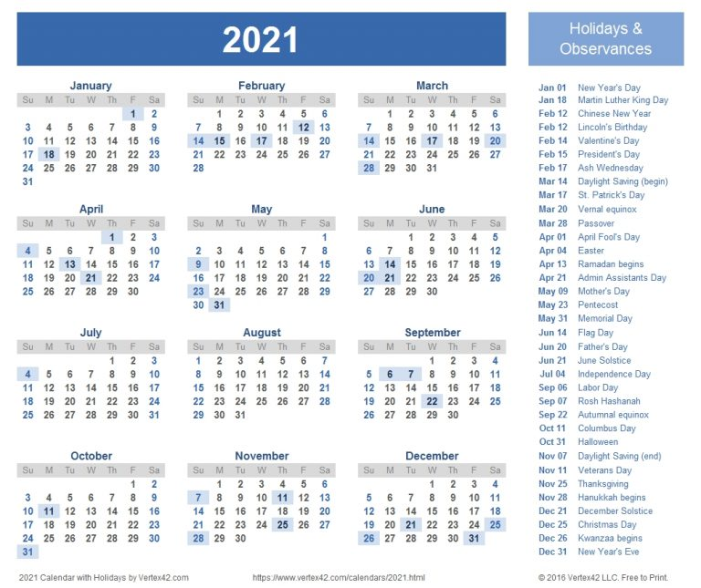 2021 Calendar Templates And Images