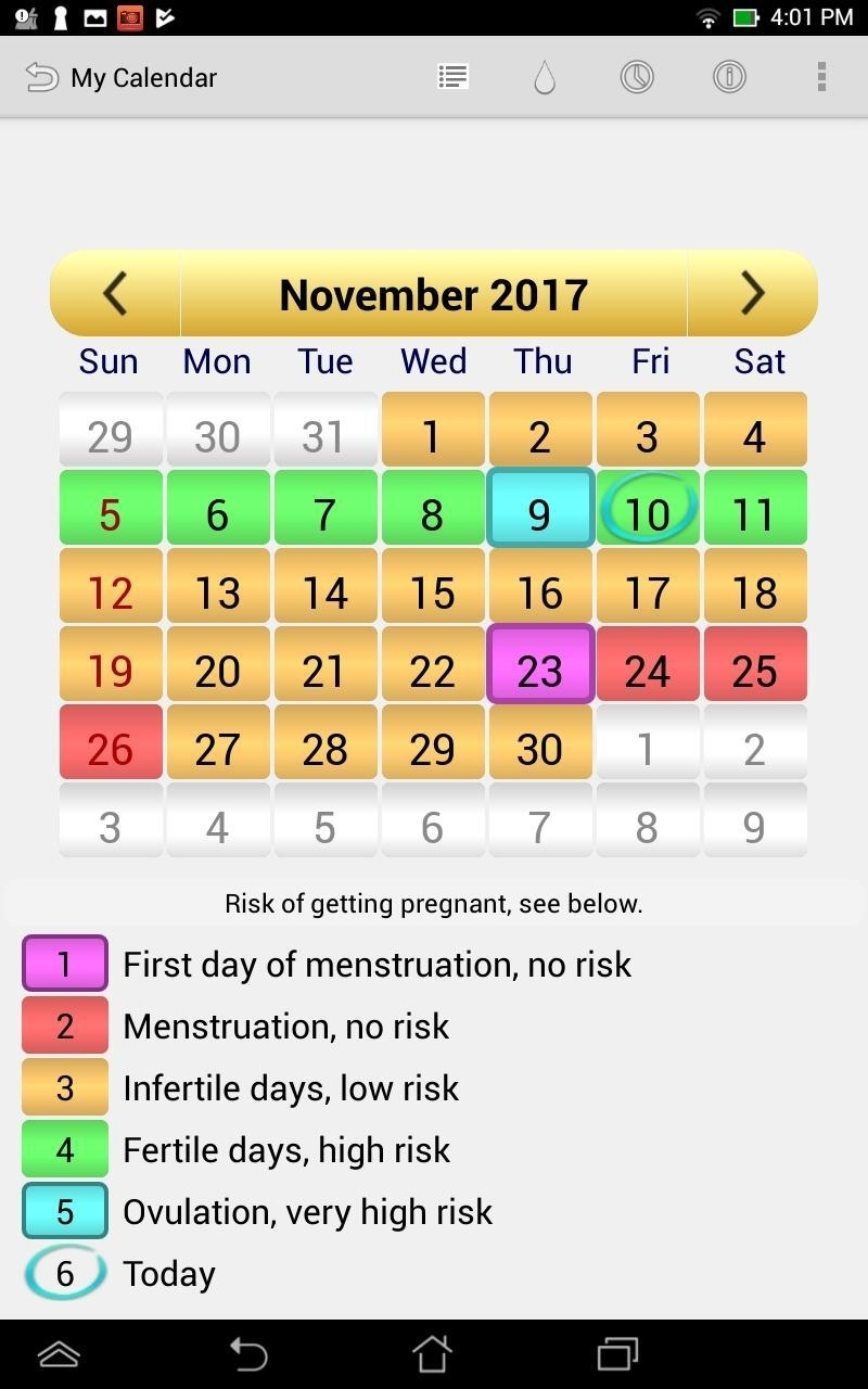 Menstrual Ovulation Calendar For Android - Apk Download