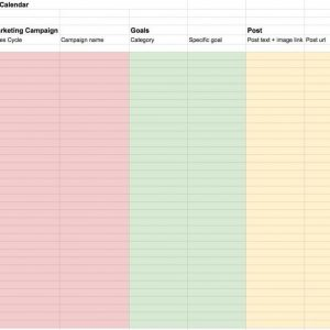 Plan Ahead With This Social Media Content Calendar Template