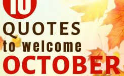 10 Happy October Quotes To Inspire You | Filling The Jars