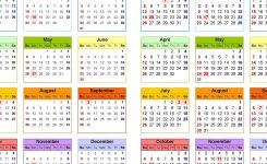 2019-2020 Calendar – Free Printable Two-Year Excel Calendars