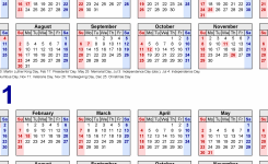 2020-2021 Two Year Calendar – Free Printable Word Templates