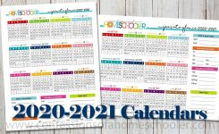2020-2021 Year At A Glance Printable Calendars – Confessions