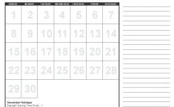 2020 Calendar Template Big Font For People With Lack Of