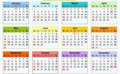 2020 Magnetic Calendar Canada With Public Holidays
