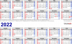 2021-2022 Two Year Calendar – Free Printable Excel Templates