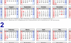 2021-2022 Two Year Calendar – Free Printable Microsoft Excel