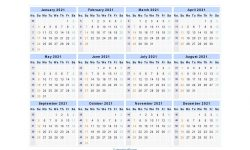 Blank Printable August 2021 Calendar Week Numbers