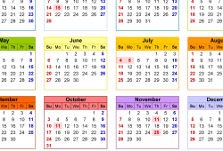 Blank Calendar Template 2021 For All Countries