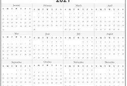 Free Monthly Calendar Print Out 2021