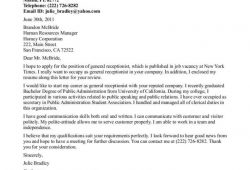 Medical Receptionist Resume Cover Letter