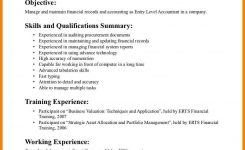 7+ Entry Level Accounting Resume No Experience   Business