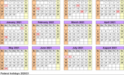 Academic Calendars 2020/2021 – Free Printable Word Templates