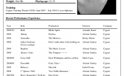 Acting | Acting Resume Template, Acting Resume, Resume