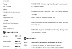 Acting Resume Builder