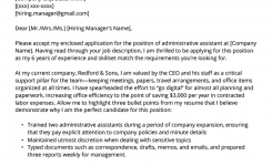 Administrative Assistant Cover Letter Example & Tips