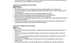 Affiliate Marketing Manager Resume Samples | Velvet Jobs