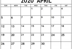 Free Printable Calendar March April 2020