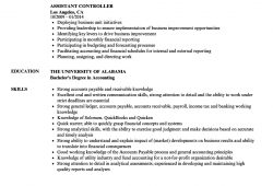 Sample Resume For Controller Assistant