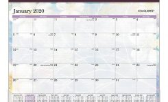 """At-A-Glance® Dreams Monthly Desk Pad Calendar, 22"""" X 17"""", Multicolor,  January To December 2020, Sk83-704"""