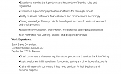 Banking Sales Consultant Resume | Templates At