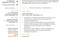 Bartender Resume Example & Writing Guide | Resume Genius