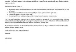 Sample Of Cover Letter For Bookkeeper
