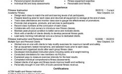 Best Fitness And Personal Trainer Resume Example