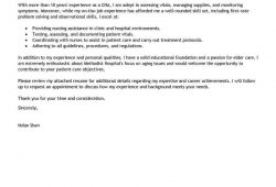 Cover Letter Examples For Nurses Aide