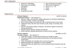 Free Sample Resume For Software Engineer