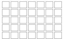 Black And White Blank Calendar Template With