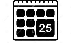 Black Solid Icon For Calendar, Date And Schedule Stock