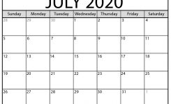 Blank July 2020 Calendar Printable – Beta Calendars