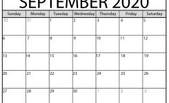 Blank September 2020 Calendar Printable – Beta Calendars