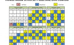 Blue/gold Day Calendar | Thoreau Middle School