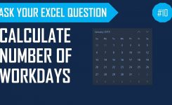 Calculate Number Of Workdays Between Two Dates Excluding Weekends & Holidays