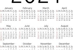 Calendar 2021 To Print Free Simple For All Users