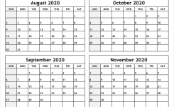 Calendar-August-To-November-2020-Printable – All 12 Month