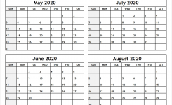 Calendar-May-To-August-2020-Printable – All 12 Month